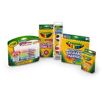 Crayola Starter Pack With Colored Pencils, Markers And Crayons