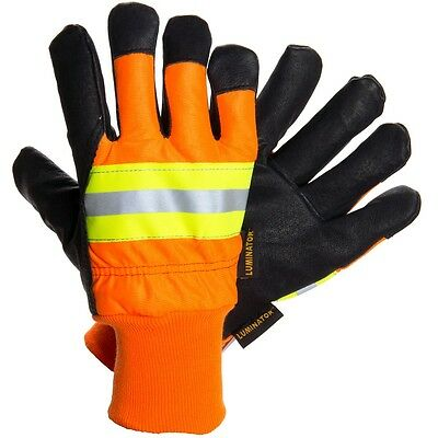 MCR Luminator 34411 Large Pigskin Leather WaterProof Insulated Work Gloves 1/PR