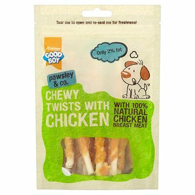 Good Boy Chew Chewy Twists With Chicken dog treats x 10 VALUE TEN PACK