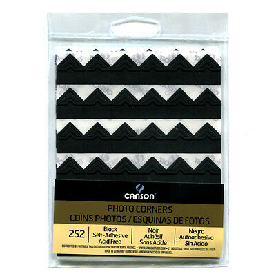 Self-Adhesive Photo Corners Black 252/Pk 6/Pk