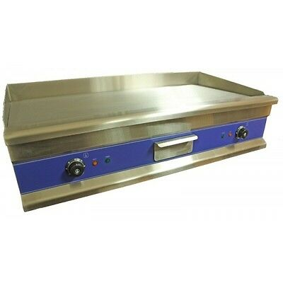 New 100cm Chrome Top Commercial Electric Griddle 2x3 KW on 2 plugs 1 Meter