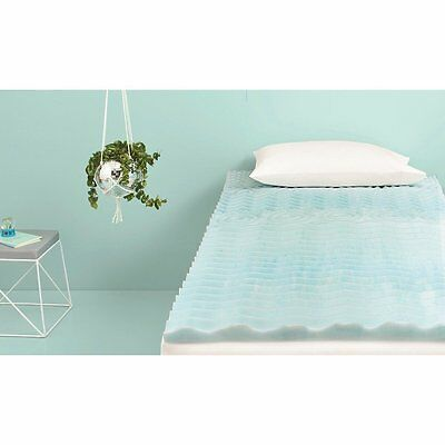 "Room Essentials 1.5"" Foam Mattress Topper - Blue - Twin XL"