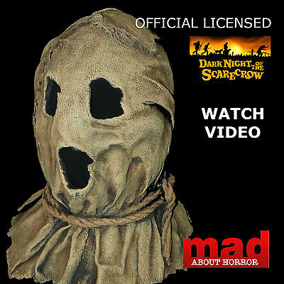 Official DARK NIGHT OF THE SCARECROW BUBBA Halloween Latex Horror Film Mask