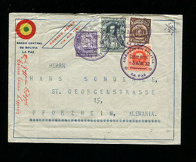 Zeppelin Sieger 153A 1932 3rd South America Flight Bolivia Post Commercial Mail