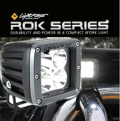 Lightforce LED ROK40 Spot Work Light 40W (4x10W CREE) 5000K & Wiring Harness CBR