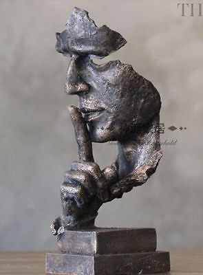 13 inch Face Sculpture Statue Abstract Modern Art Deco & free shipping