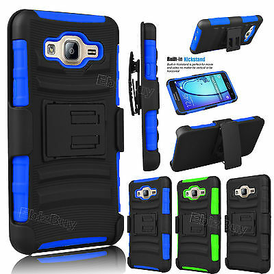 For Samsung Galaxy On5 Shockproof Hard Hybrid Phone Case Cover Belt Clip Holster