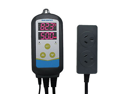 Inkbird 230V Humidity and Temperature Dual-use Controller IHC230 Thermostat AU