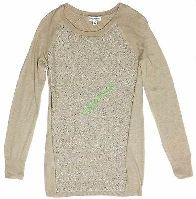 New Womens Maternity Oatmeal Pullover Sweater Liz Lange NWT Size XS L