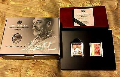 King George V – Centenary of Stamps 2014 1/2oz Silver Proof Stamp and Coin Set