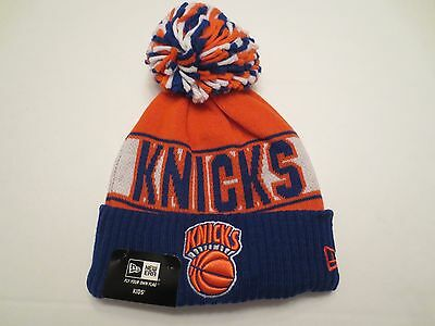 New Era Nba Rep Your Team Sport Knit Cap Hat New York Knicks Youth Kids Beanie