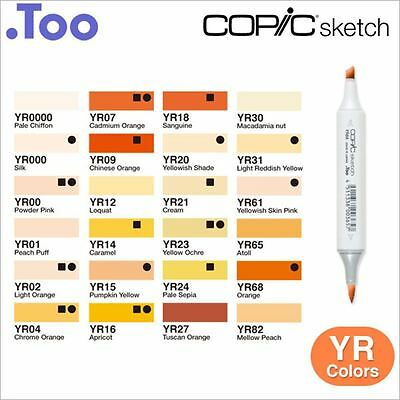 "Copic Sketch Marker Pen ""YR(Yellow Red) Color Series"""