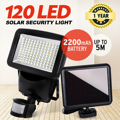 120 LED Solar Sensor Light Solar Security Light Motion Detection Garden Flood