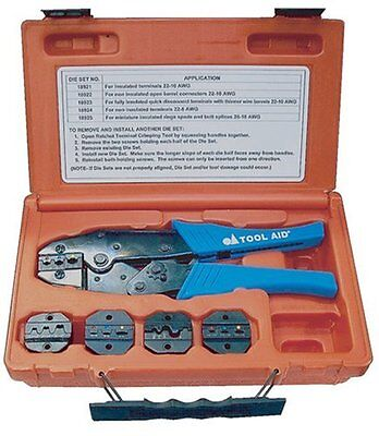 Sg Tool Aid 18920 Ratcheting Terminal Crimper Kit Crimps 22-10 To 22-16 Gage