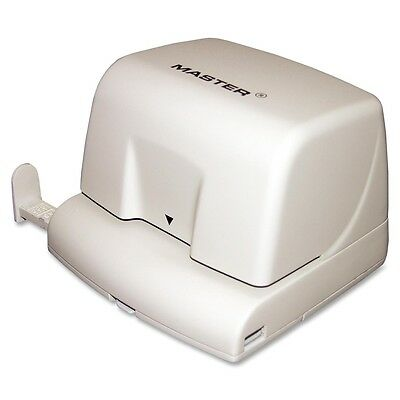 """Master Electric Two-hole Punch - 2 Punch Head[s] - 12 Sheet Capacity - 1/4"""" -"""