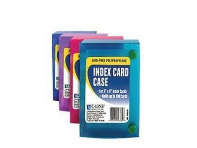 C-line Products 3 X 5 Index Card Case, 1 Case [color May Vary] - Polypropylene -
