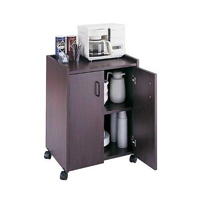 Safco Mobile Refreshment Utility Cart - 1 Shelf - 200 Lb Capacity - 4 X 2""