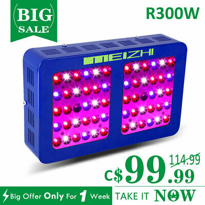MEIZHI Reflector 300W LED Grow Light Full Spectrum 5W Growth Indoor Plants Lamp
