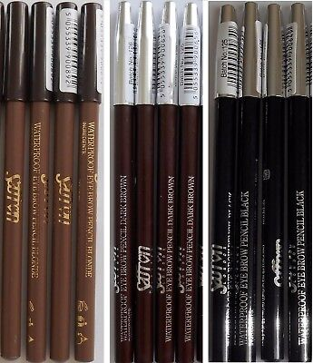 Saffron Waterproof Eyebrow Pencil Blonde Dark Brown Black Eye Brow 1, 4, 6 Or 12