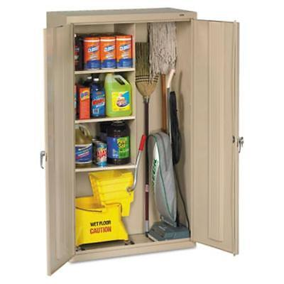 "Tennsco Janitorial Cabinet - 36"" X 18"" X 64"" - Steel - 4 X Shelf[ves] -"