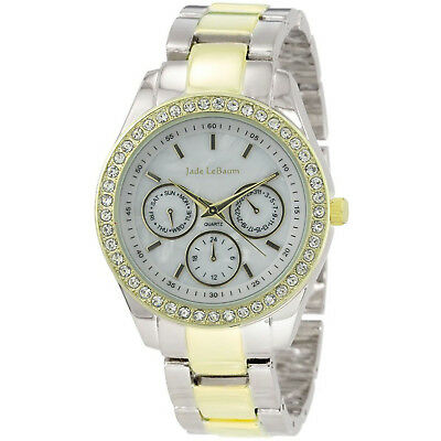 Chunky Ladies Watch Metal Band Two Tone Big Face Wacht Reloj Dos Tonos Mujer NEW