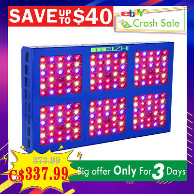 MEIZHI Reflector 900W LED Grow Light Hydroponics Full Spectrum Indoor Plant Lamp