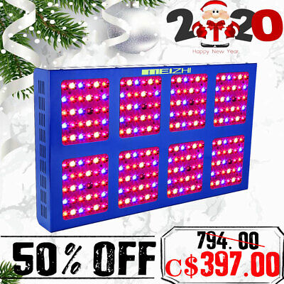 MEIZHI Reflector 1200W LED Grow Light Full Spectrum Hydroponic Plant Indoor Lamp