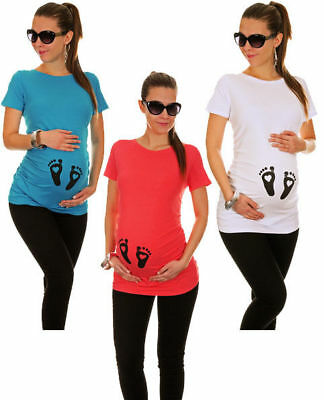 Footprint Maternity Top Tee Alternative Cute Print Gorgeous Comfortable Colour