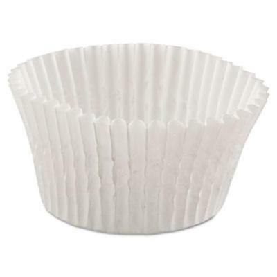 Hoffmaster 610032 Fluted Bake Cups, 4 1/2 Dia X 1 1/4h, White, 500/pack, 20