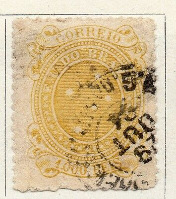 Brazil 1890 Early Issue Fine Used 1000r. 097253