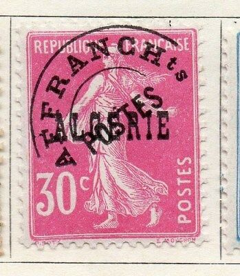 Algeria 1924-26 Early Issue Fine Used 30c. Optd 097300