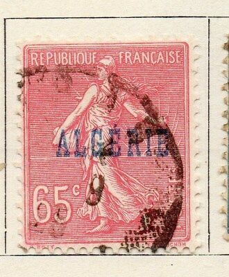 Algeria 1924-26 Early Issue Fine Used 65c. Optd 097305