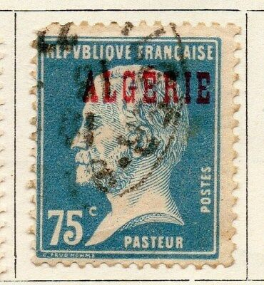 Algeria 1924-26 Early Issue Fine Used 75c. Optd 097306