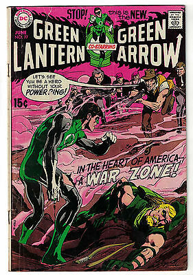 DC Comics GREEN LANTERN Issue 77 In The Heart Of America A War Zone! VG