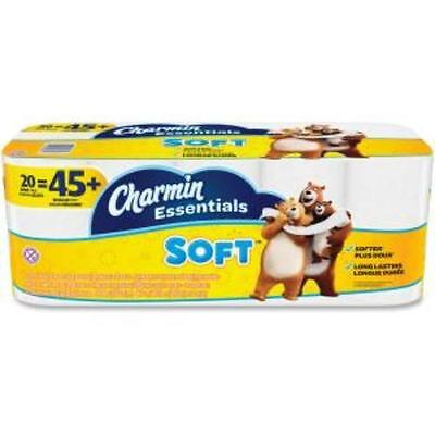 Charmin Essentials Soft Bath Tissue - 2 Ply - White - Soft, Clog-free,