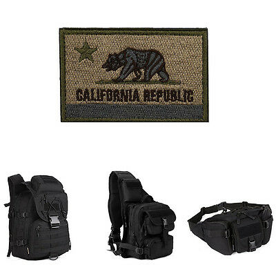 CALIFORNIA REPUBLIC Backpack Swat Military Tactical Patch Tape Army Morale Badge