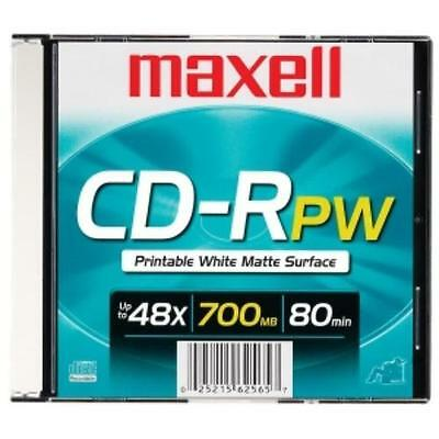 Maxell Cd Recordable Media - Cd-r - 48x - 700 Mb - 1 Pack - 120mm1.33 Hour