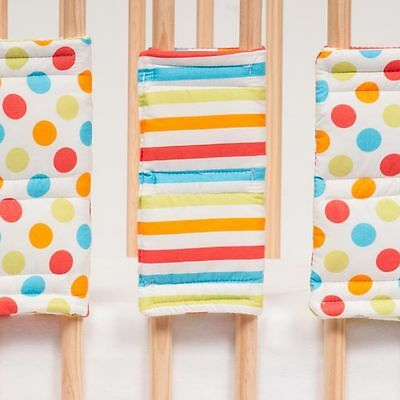 Hippychick - Spots & Stripes Bumpsters Cot Bar Bumpers (10 Large )