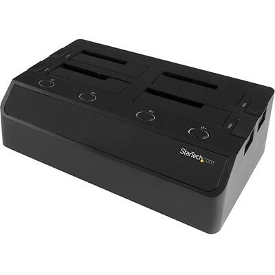 Startech.com 4-bay Hard Drive Docking Station For 2.5in / 3.5in Ssds And Hdds -
