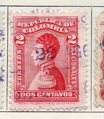 Colombia 1917 Early Issue Fine Used 2c. 097656