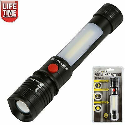 Electralight COB LED Inspection Torch Zoom Function - Metal Casing