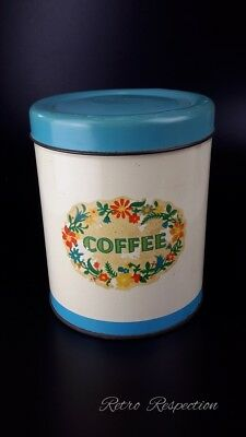VINTAGE Coffee Canister Tin
