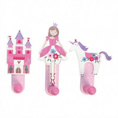Gisela Graham Wooden Peg Hook - Unicorn - Princess Castle - Ballerina - Pink