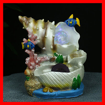 Indoor Polyresin Water Fountain Feature LED Tabletop Home Decor WF9122 NEW
