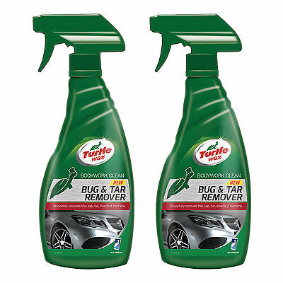 2 x Turtle Wax Bug & Tar Tree Sap Remover All Surface Car Cleaner Spray 500ml