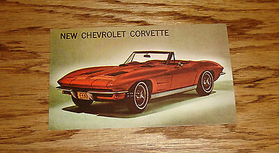 1963 Chevrolet Corvette Sting Ray Convertible Post Card 63 Chevy