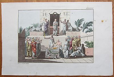 Spalart: Ancient Greece Rome Religion Rare Large Handcolored Print - 1800