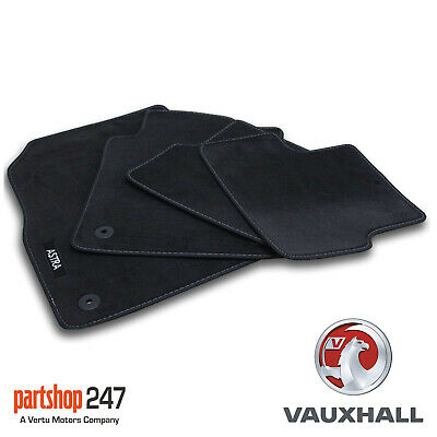 Genuine Vauxhall Astra J Mk6 Velour Black Tailored Front/rear Floor Car Mats