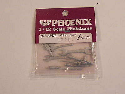 PHOENIX 1/12 dolls house miniature DH15 GENERAL TOOL SET OUTILS kit metal