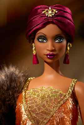 Harlem Theatre Collection Gold Label Madame LaVinia Barbie Doll With Fur Stole